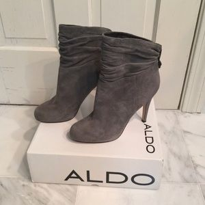 Aldo | Fall Grey Suede Coranna Booties Size 37